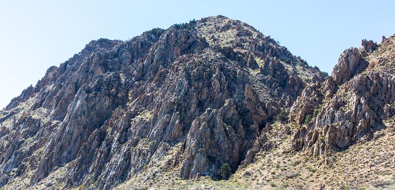 Eastern Sierra Nevada rock formation