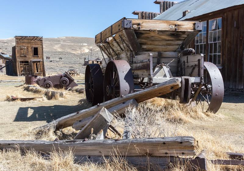 Mining cart in Bodie