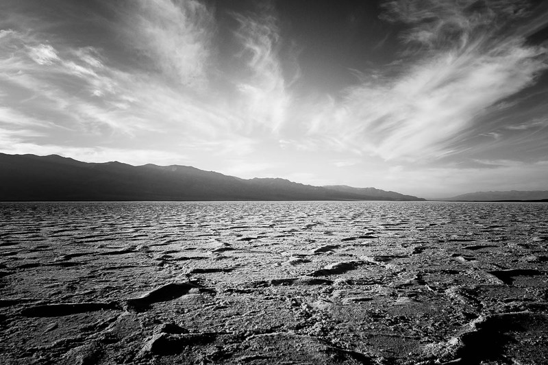Badwater in Black and White