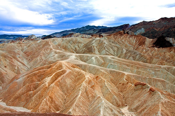 The colorful clay and mudstone badlands of Death Valley National Park.