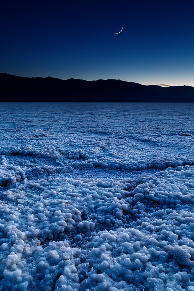 Blue hour on the Badwater Basin Salt flats