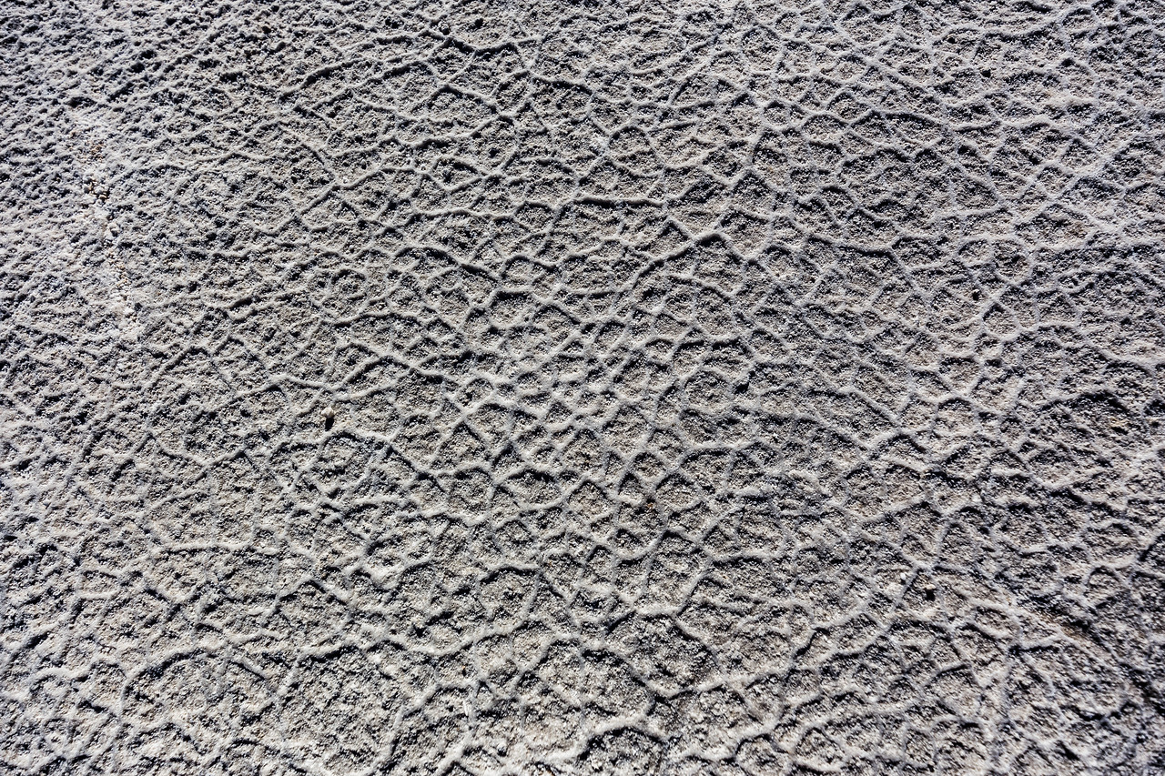 Detail view of the Salt Flats at Badwater Basin.