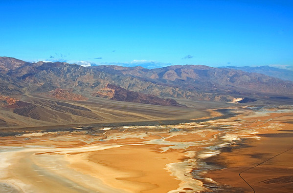 """""""Dantes View"""" of Death Valley salt flats and Panamint Mountain Range."""
