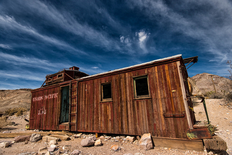 Rhyolite train station-one car left