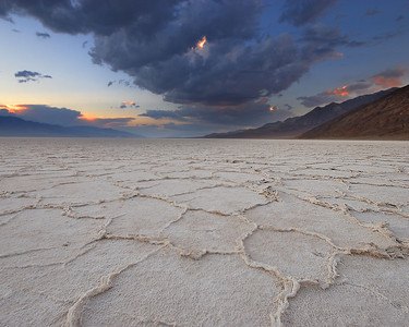 Sunset, Badwater Salt Flats Death Valley National Park California