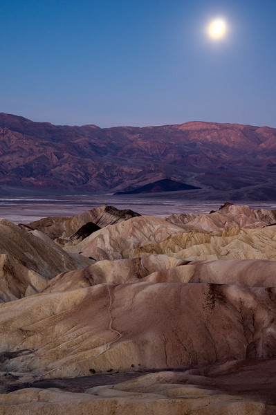 Moon Setting Over Death Valley