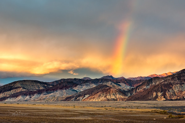 Rainbow over Death Valley