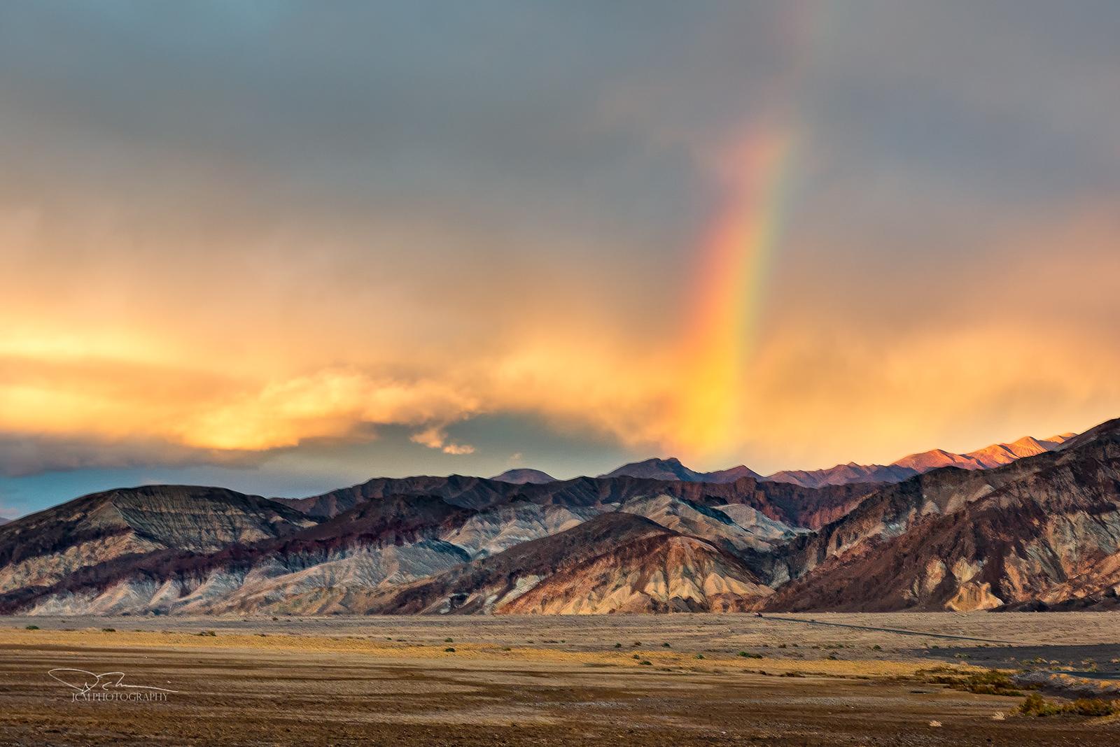 Rainbow over Death Valley