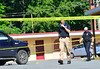 KRISTOPHER RADDER — BRATTLEBORO REFORMER<br /> Brattleboro Police Department investigates a suspicions death that happened around 5:45 a.m. at the EconoLodge, on Canal Street in Brattleboro, Vt., on Friday, July 31, 2020.