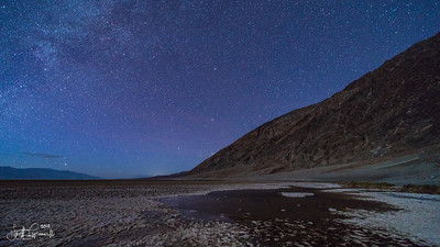 Badwater Basin by Moon light - Death Valley, CA