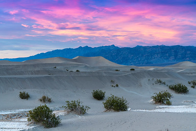 Sunset - Mesquite Flat Sand Dunes - Death Valley, CA