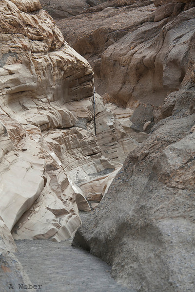 Coming out of Mosaic Canyon narrows in Death Valley National Park