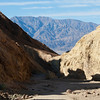Coming out of the Golden Canyon in the Death Valley National Park