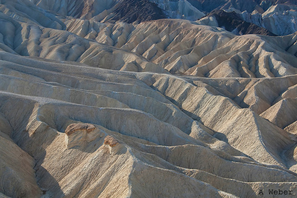 View from the Zabriskie Point in the Death Valley National Park