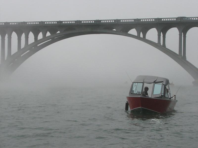 We eventually return to foggy Gold Beach.