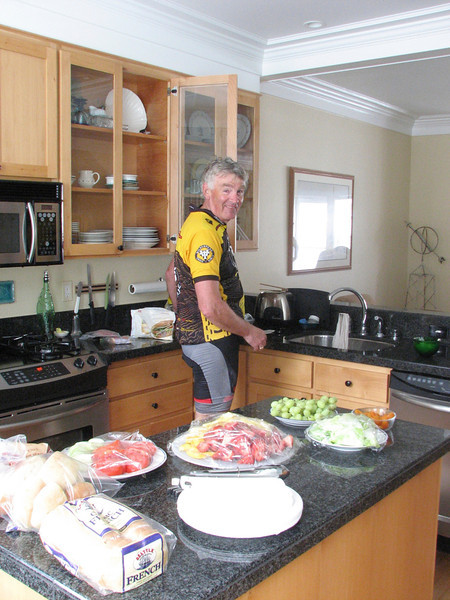 ...where he sets up an amazing lunch for us!