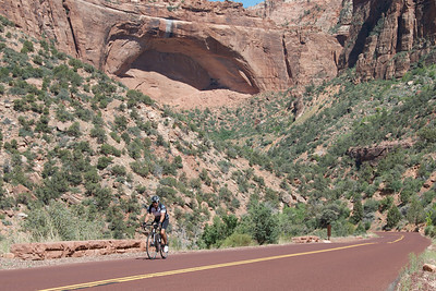 Jay: a little further up the Zion climb