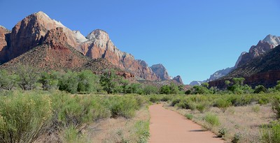 Bike path in heaven. Deb noodles around Zion while you guys actually ride there.