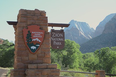 Day 1: St George to Mt Carmel Junction, riding through Zion Nat'l Park