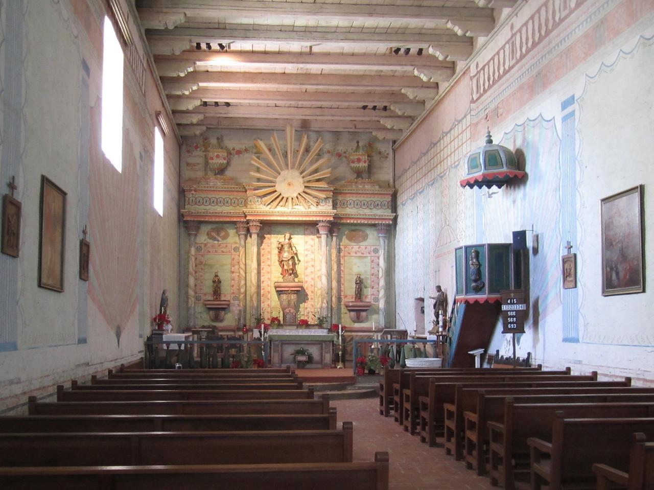 Mission San Miguel chapel.