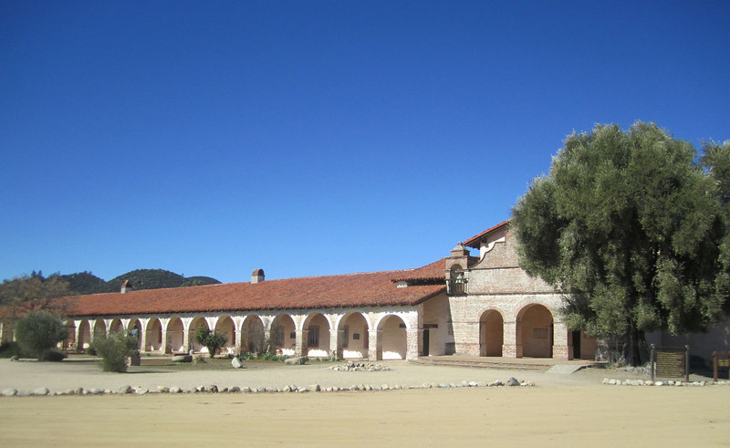 Mission San Antonio. You ride through Fort Hunter Ligget to reach the mission.