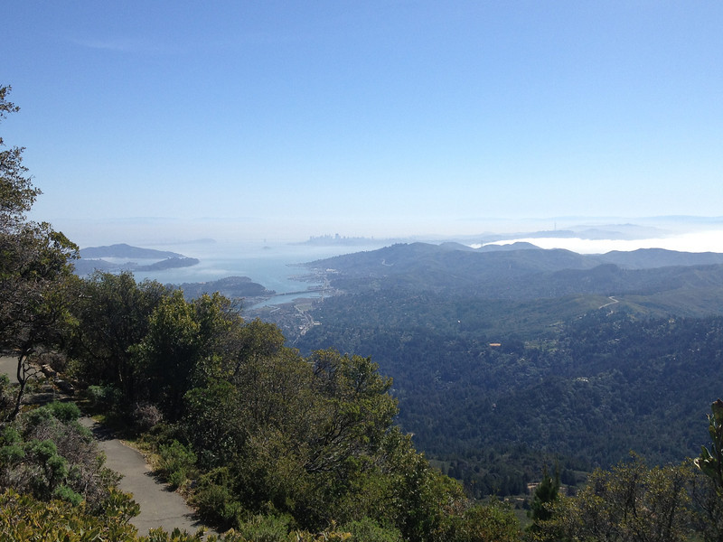 View of San Francisco from the summit of Mt Tamalpais