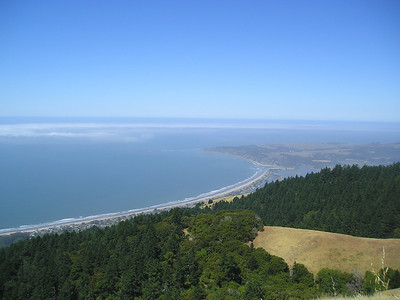 Stinson Beach and Bolinas Lagoon from Mt Tam (Ridgecrest Road)