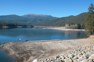 Lake Siskiyou ... a lot lower than usual in January 2014