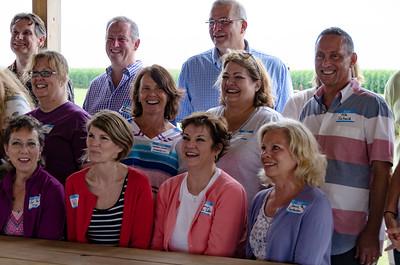 (Front) Gail Bartz, Joanne Elbert, Missy Austin, Janice Featherstone; (Mid)  Jeri Oleson, Marge Odahowski, Joanne Howell, Tim Schaid; (Back) Tom Buchanan, Kevin Fanning, Mike Pankonin (Sara Bruhn is hidden behind Tim)
