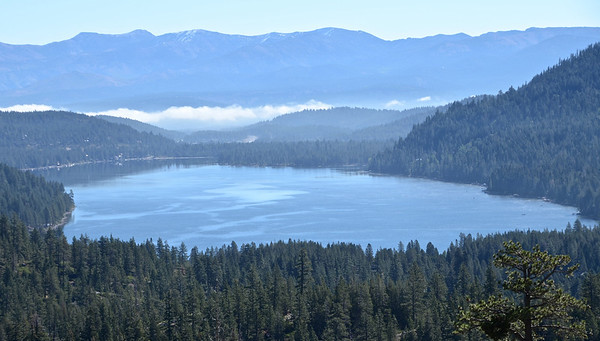 Donner Lake with fog clearing