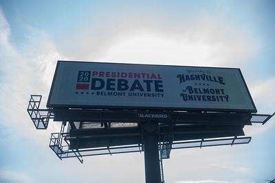 Debate 2020 billboards