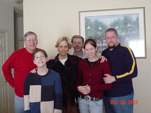 Scott, Chris, Linda, Dan, Meryl, and Rick and Debbie's house.