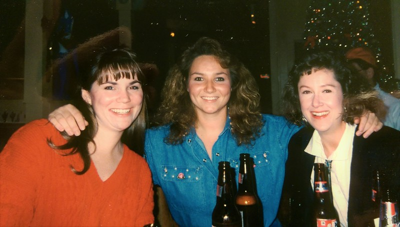 Friends Peggy, Stacy and myself. Charleston SC during graduate school years.