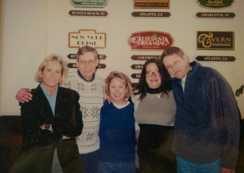 At least 20 years previously. Linda, Chris Carson's dad Scott, Debbie, Jennifer & Rick.