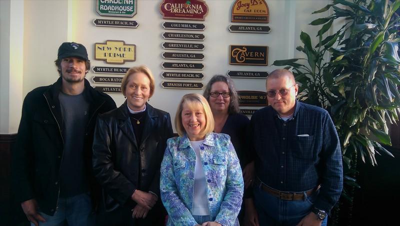 Chris Carson with Linda, myself, Jennifer & Rick.