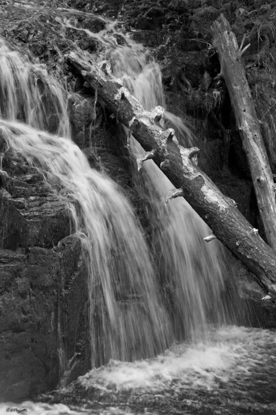 Little Multnomah Falls from the platform above Multnomah Falls.
