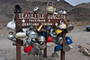 """Death Valley Trip #4 Teakettle Junction 20 miles of dirt road brings us to the famous Teakettle Junction.  An early explorer left a teakettle to mark the trail and the tradition continues.    That said, most of the teakettles were marked with photographer's business names.  (Marketing at its best) If you go, make sure you take a kettle.  A gallery from this trip is <a href=""""http://2dphotography.smugmug.com/Travel/Death-Valley-2011/16373453_TZyZY"""">here</a>.   ~Deb 3/23/2011"""