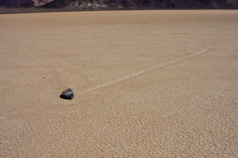 """Death Valley Trip #7 The Racetrack Silt from the surrounding mountains drain into this low spot creating a playa.  This fine mud dries into interesting patterns.  This is where rocks are said to travel across the playa.  It is believed this is a result of the playa freezing and wind blowing the rocks across the surface.  A gallery from this trip is <a href=""""http://2dphotography.smugmug.com/Travel/Death-Valley-2011/16373453_TZyZY"""">here</a> ~Deb 3/26/2011"""