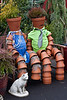 Garden Visitors<br /> It is about this time of year that I start getting motivated to work in my yard. The flower beds are still sleeping but I am planning and thinking.  Today at the garden nursery, I met a lovely couple.  :-)<br /> <br /> ~Deb<br /> 2/13/2011