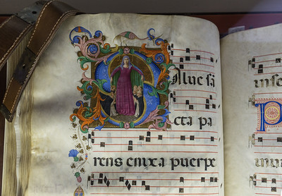 One of the illuminated manuscripts