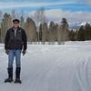 Jim snowshoeing at Turkey Creek