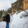 JIm snowshoeing Piedra River Trail