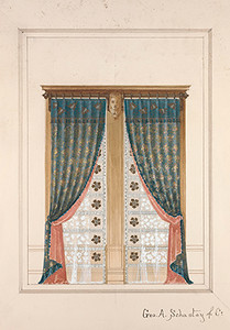 Design for window curtains for Hegeler Carus Mansion