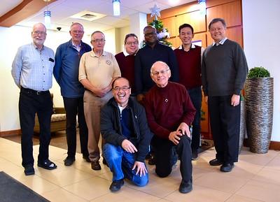 Participants at the Dec. 6 North American Councils Meeting in Toronto: Fr. Ed Kilianski, Fr. John van den Hengel, Fr. Paul Tennyson, Fr. Quang Nguyen, Fr. Jack Kurps, Fr. Gustave Lulendo, Fr. Richard Woodbury, Fr. Vien Nguyen and Fr. Yuliwan Maslim