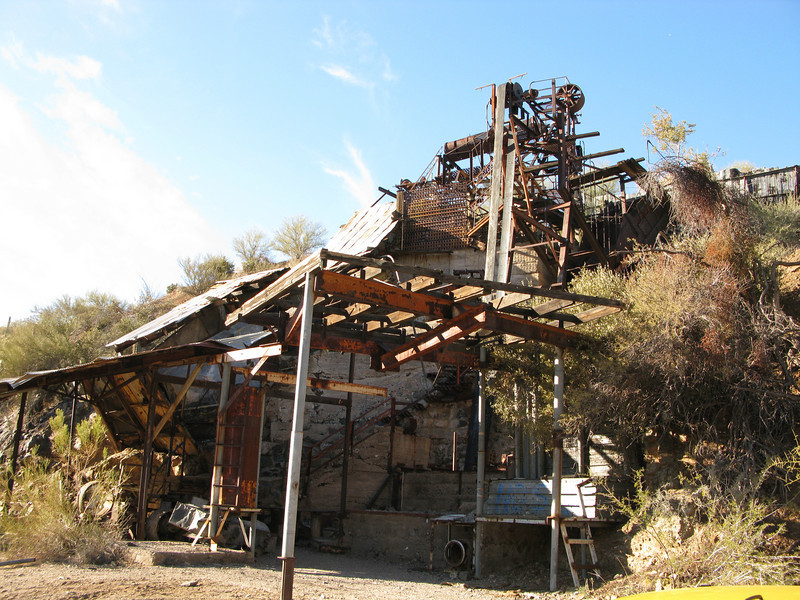 Anderson brothers mica mill in San Domingo wash. Last operated in 1951.