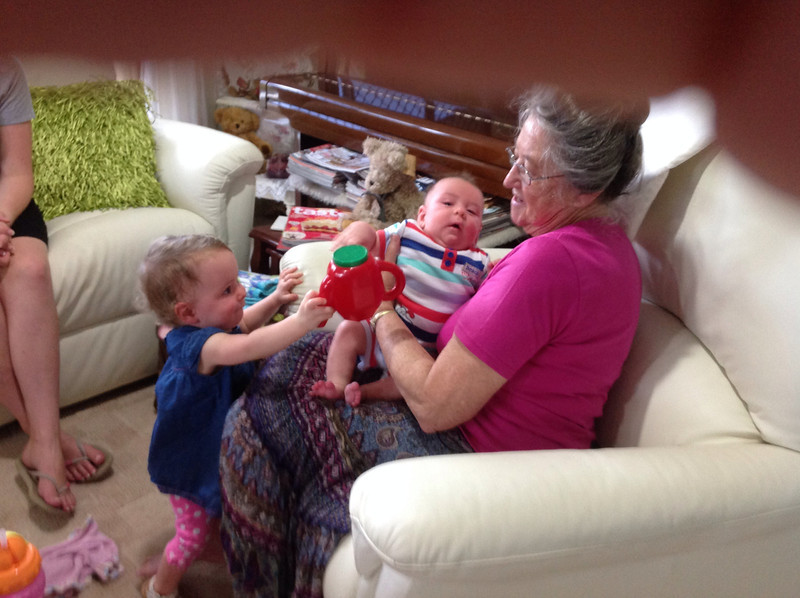 Dakota, Maddox with great  nanna Williams