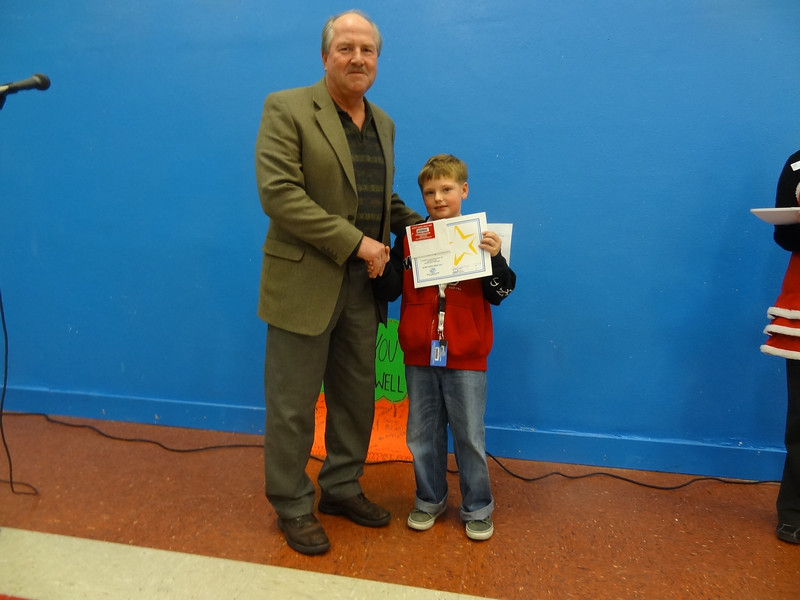 Student of the month award from Anacortes Mayor Dean Maxwell... !