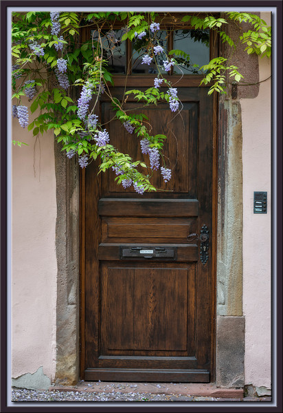 Hauseingang mit Blauregen, Colmar