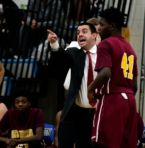 12/22/2016 Mike Orazzi | Staff New Britain High School boys basketball coach Todd Stigliano.