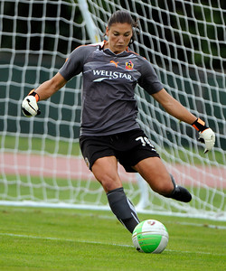 8/21/2010 Mike Orazzi | Staff Atlanta Beat goalie Hope Solo (78) during Saturday's game at Veterans Stadium in New Britain.